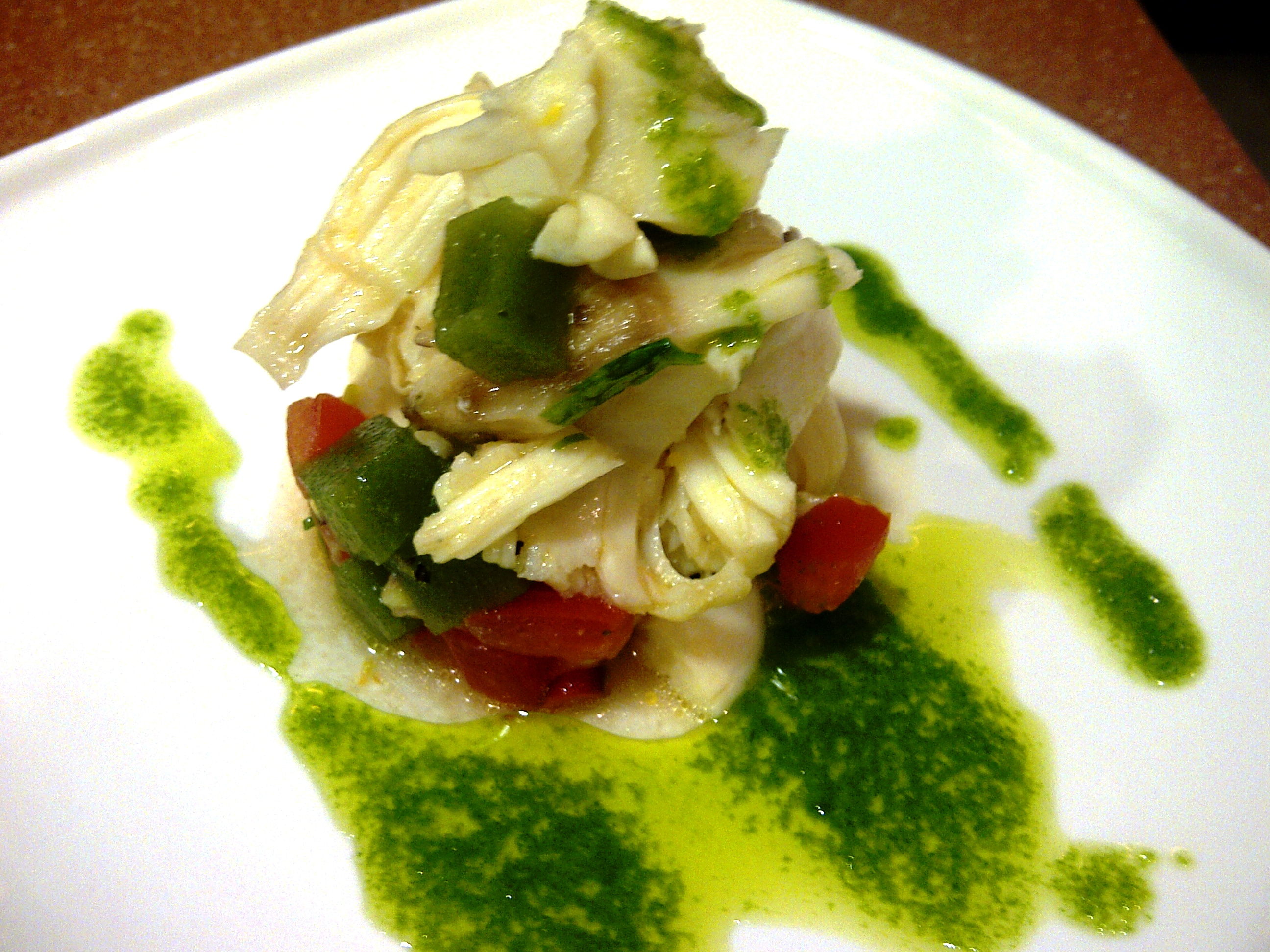 Lobster Ceviche, with Cucumber and Lemon Jelly, Trout Roe and a Herb ...